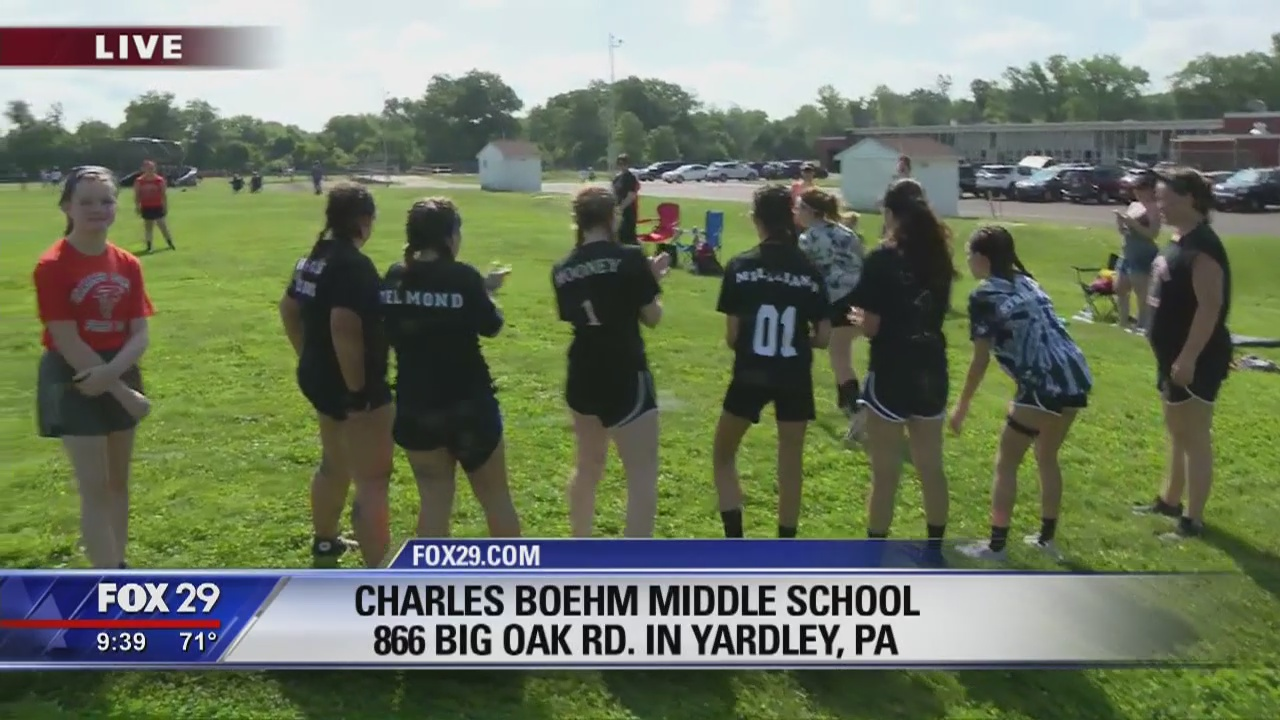 Kelly's Classroom: Bob stops by Charles Boehm Middle School's Field Day