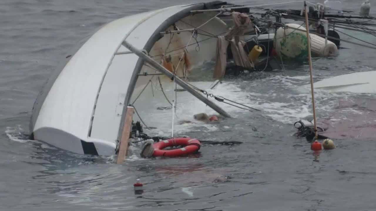 2 rescued after clinging to capsized sailboat for 3 hours off Atlantic City coast