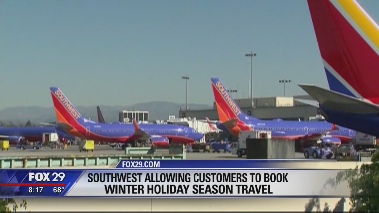 Southwest allowing customers to book winter holiday season travel