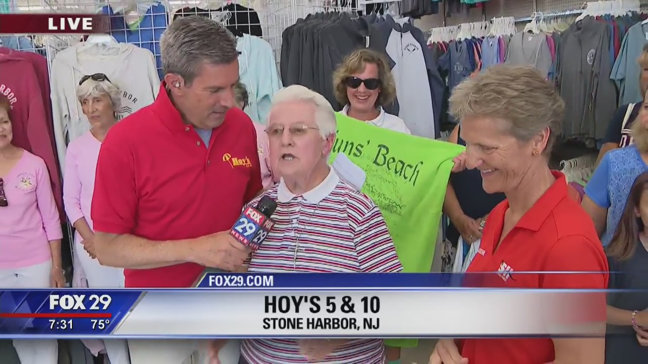 Town Takeover: Bob hangs with Sister James at Hoy's 5 & 10