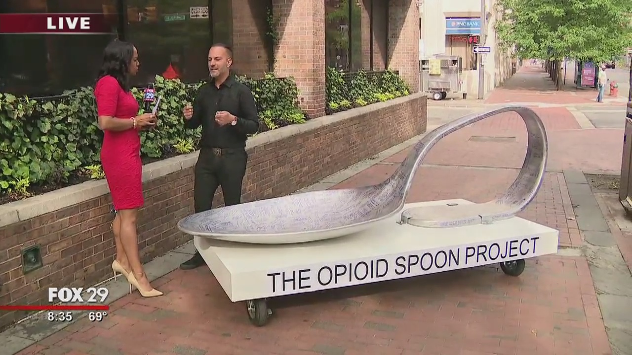 'Opioid Spoon Project' comes to Philadelphia to raise awareness of opioid crisis
