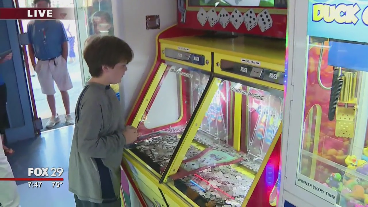 Town Takeover: Bob stops in the arcade in Stone Harbor