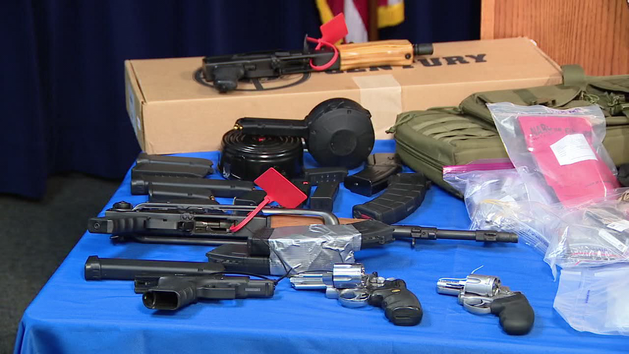 DA: 3 charged in gun and drug trafficking operation in Montgomery County
