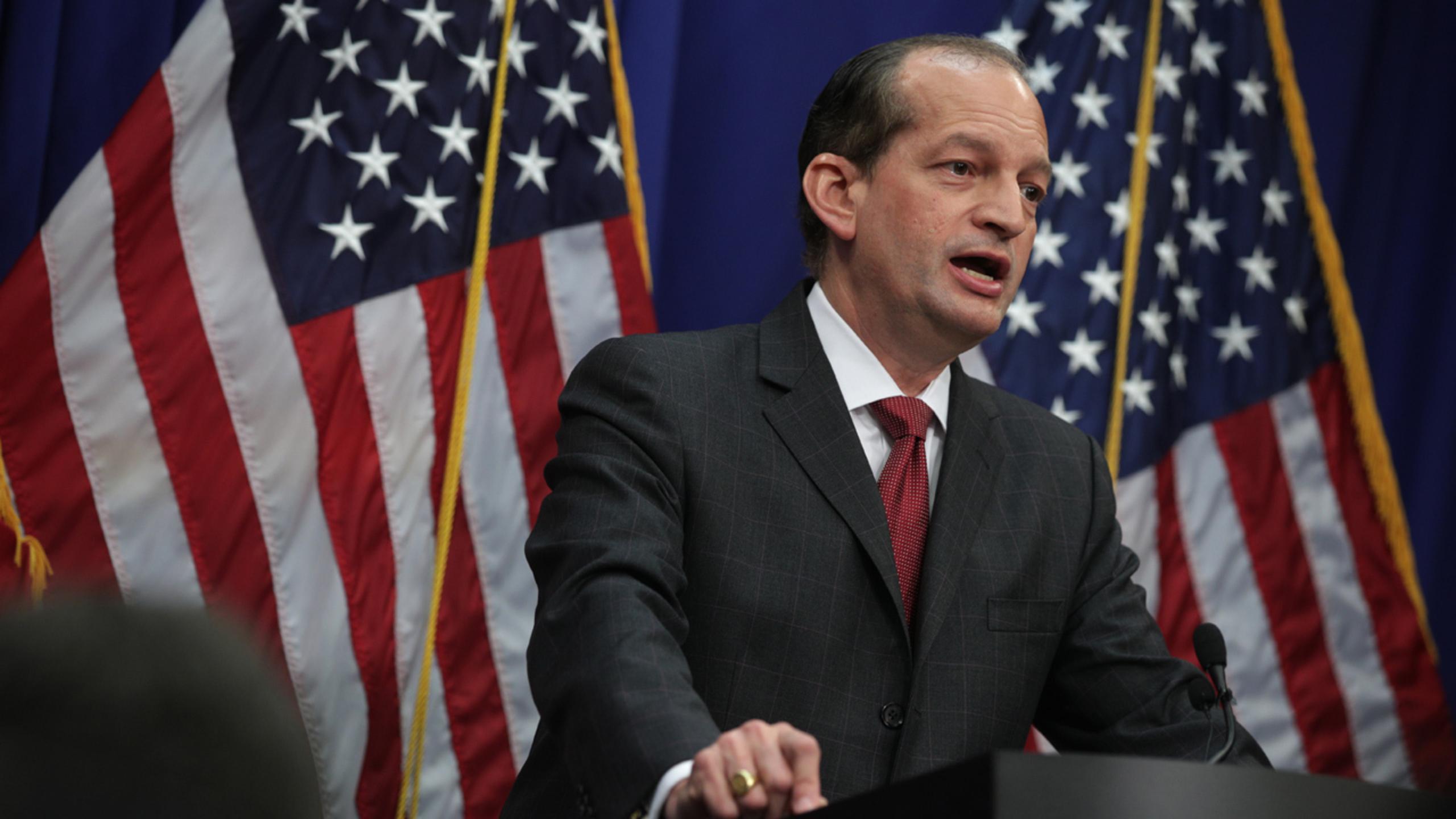 United States Secretary of Labor Alexander Acosta stepping down, Trump says