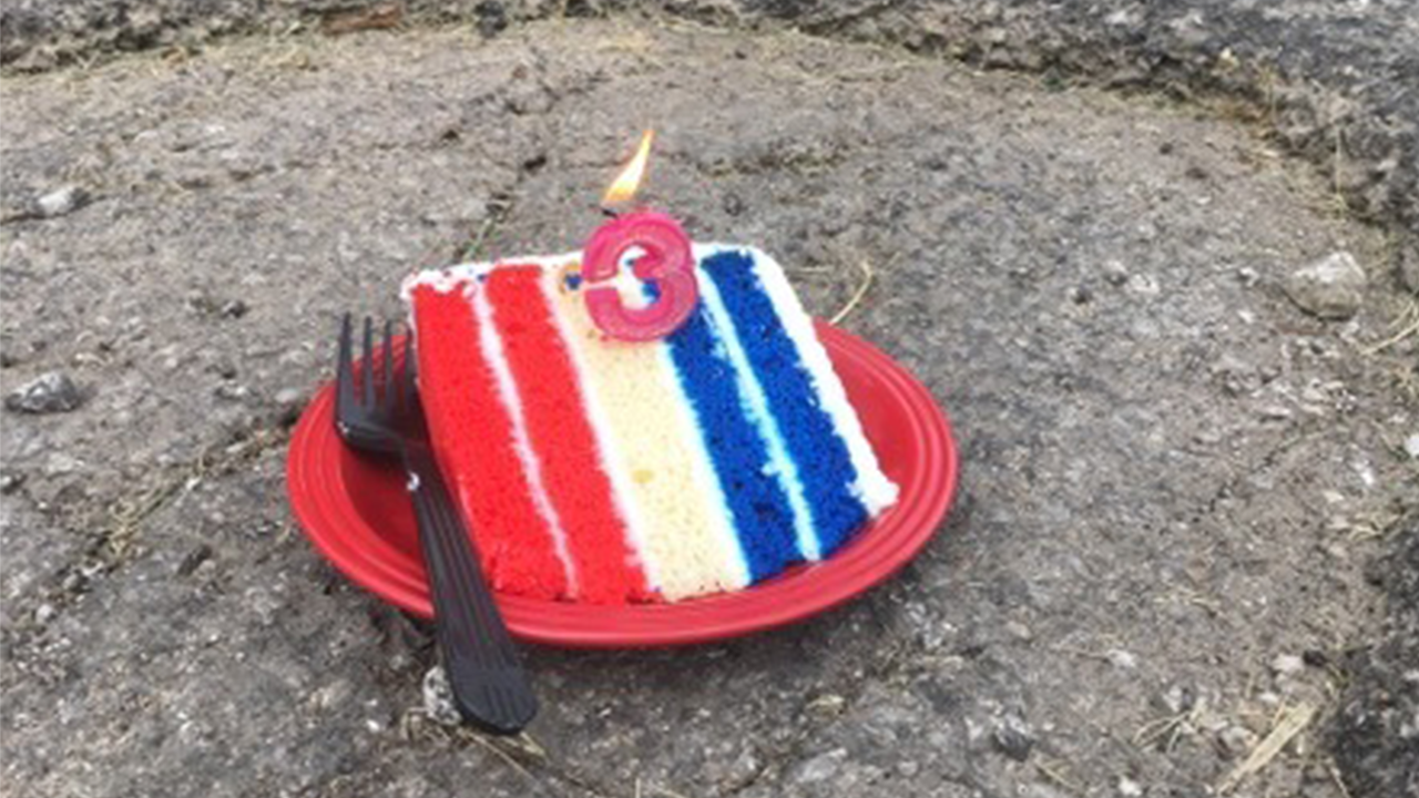Man throws birthday party for 3-month-old pothole: 'I didn't sing to him'