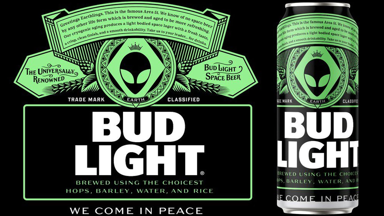 Bud Light offers free beer to any alien 'that makes it out' of Area 51