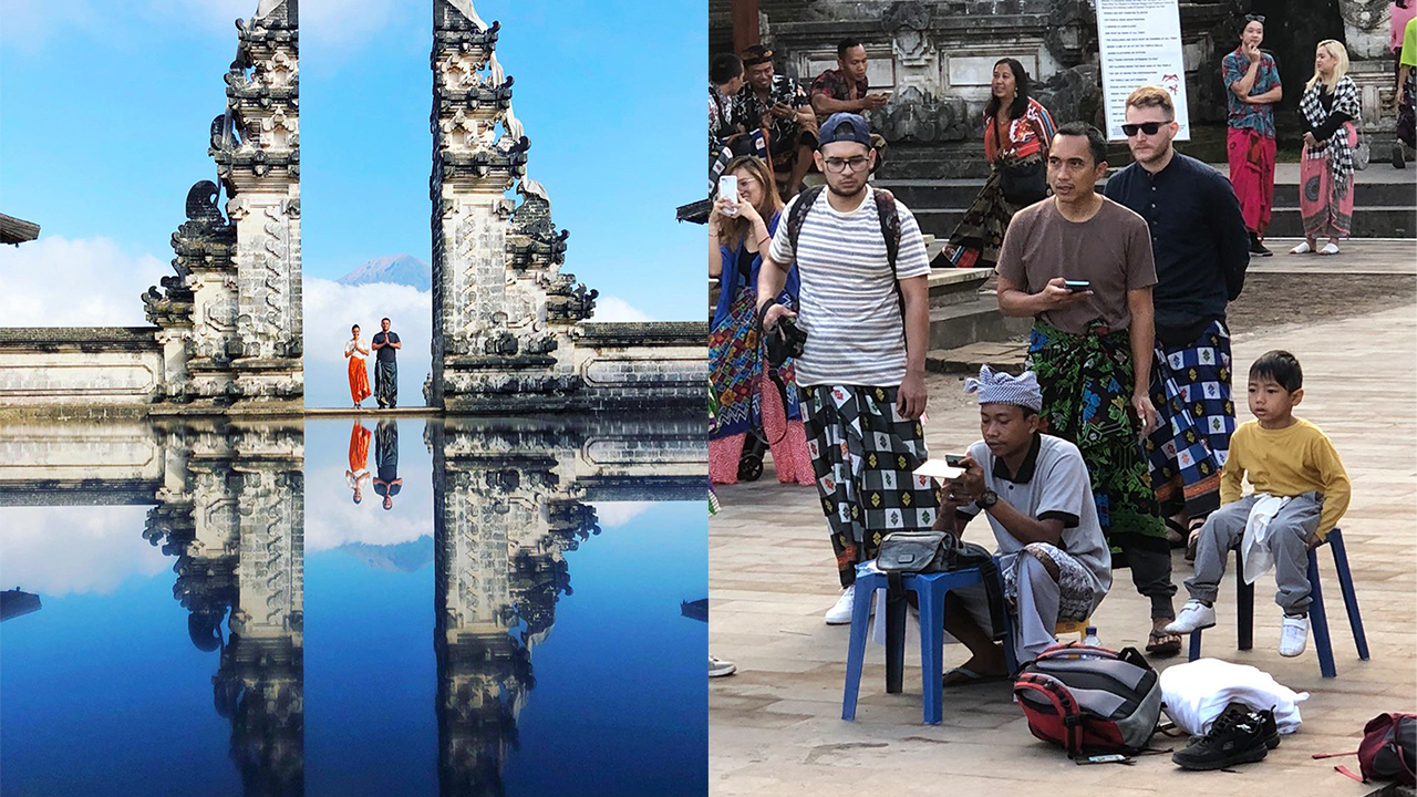 Instagrammers flock to Bali tourist attraction only to find it's faked in social media photos