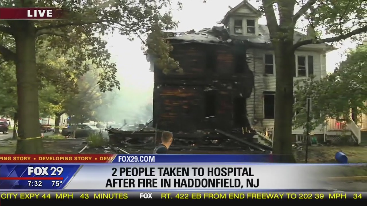 Adult, child injured in Haddonfield house fire | FOX 29 News