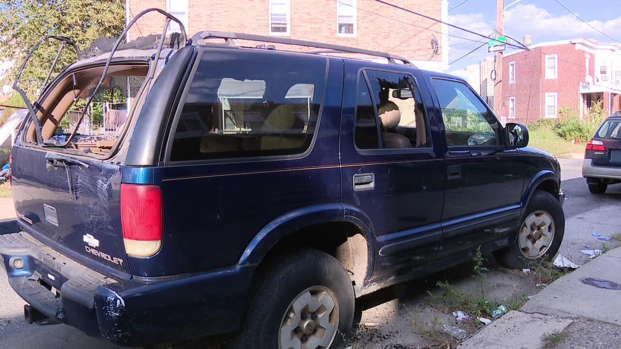 Despite complaints, abandoned car has lived on Southwest Philadelphia block for nearly 2 years