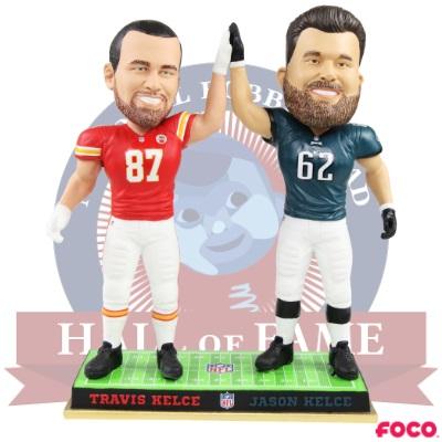 Jason, Travis Kelce bobblehead unveiled ahead of Super Bowl LIV
