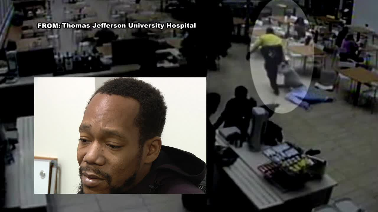 Image result for Jefferson Hospital patient claims security guard dragged him out of cafeteria